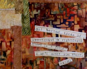 Rumi Art Quilt