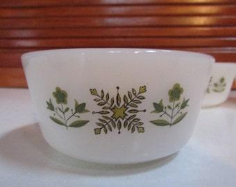 Fire King Green Meadow Dessert Bowl Set of 4