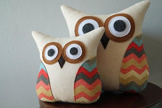 Bedroom Decor Chevron Owl Pillow Southwestern Decor Red