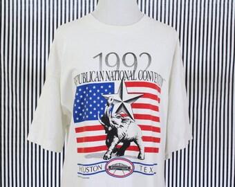 Vintage 1992 Republican Convention T-Shirt Men's XL