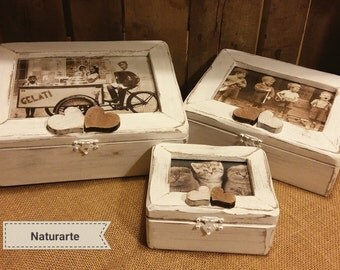 Jewellery boxes with picture frame