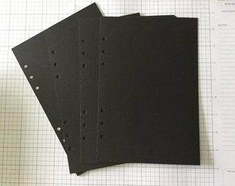 Black inserts! Great for doodling! A5 size punched