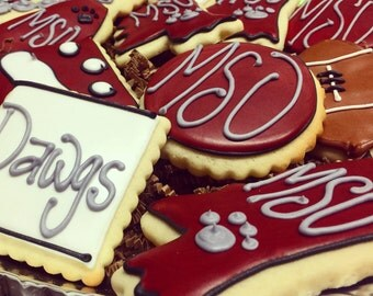 Mississippi State Cookies - Mississippi State Gifts - Mississippi State Tailgating