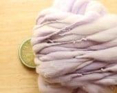 Lavender Dream - Handspun Wool Yarn Pastel Purple Thick and Thin Skein