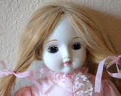 """Reserved for Denise- Vintage 17"""" Handmade Porcelain Doll Vintage Porcelain Collectible Doll from The Eclectic Interior"""