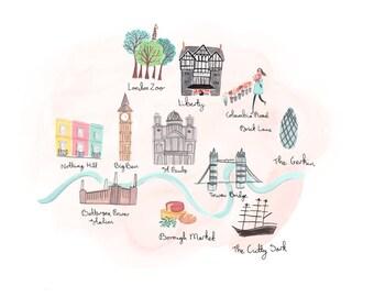 Olivia's London A4 Art Print