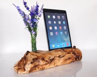 iPad Air Docking Station - Vase Holder - iPad Pro 9.7 dock - iPad Air 2 dock - iPad wooden dock