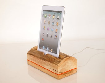iPad Air/Air2 wooden dock - iPad mini dock - can serve as iPad Air holder / iPad Air stand... (Unique Gift)