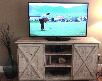 Entertainment center/Tv stand/rustic tv console/TV Cabinet/media console/living room furniture/rustic furniture/TV console