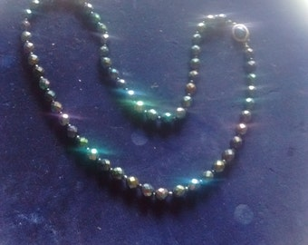 Faceted Saint Helens Glass Beads with Fish Hook Clasp