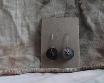 GreyBlack Ceramic/silver Earrings