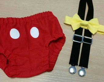 Mickey Mouse inspired cake smash outfit, Mickey mouse  cake smash birthday outfit