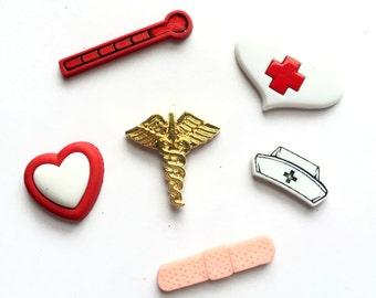 Nurse Magnets, Nursing Themed Magnets, Medical, Medicine, Kitchen Decor, Hostess Gift, Party Favor