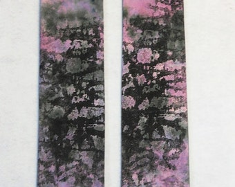 Lent Clerical Stole, Rose Purple and Grey, Screen Printed and Dyed