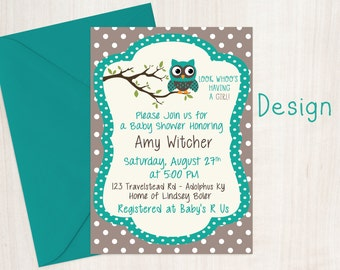 Owl Baby Shower Invitations - Baby Shower Invites - Baby Shower - Invitations