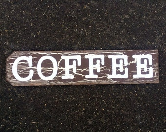 Wood Sign Wall Decor - COFFEE