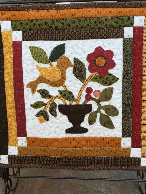 Summer Blooms Little Quilt Wall Hanging By Krasoskiskrafts