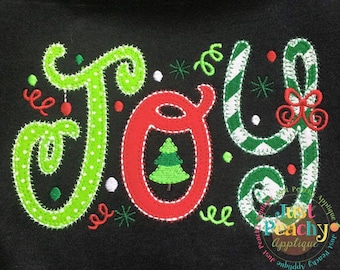 Joy Machine Embroidery Applique Design Buy 2 for 4! Use Coupon Code 50OFF
