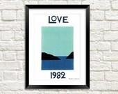 AMOR 1982, 1989 PÔSTERS: Tapeçarias de parede de impressão de arte YSL