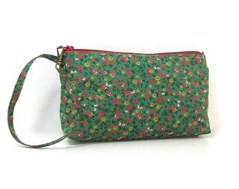 Trousse tissu coton fleuri N10