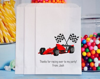 Car Racing Goody Bags, Car Racing Favors, Popcorn Bags, Car Racing Treat Bags,