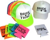 Single Set Bride Tribe Snapback Mesh Trucker Hat Cap & Matching Can Cover  Team Bride Bachelorette