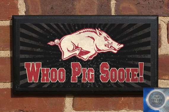 Arkansas Razorbacks Man Cave Woo Pig Sooie Wall Art Sign Home Decorators Catalog Best Ideas of Home Decor and Design [homedecoratorscatalog.us]