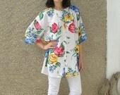 ON SALE: Vintage Floral Shirt size L-Xl
