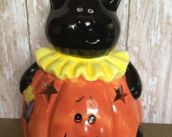 Black Cat tealight holder Halloween