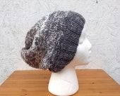 "KIT - ""New Directions"" Slouch Hat - Grey/Brown version - Hearthside Fibers"