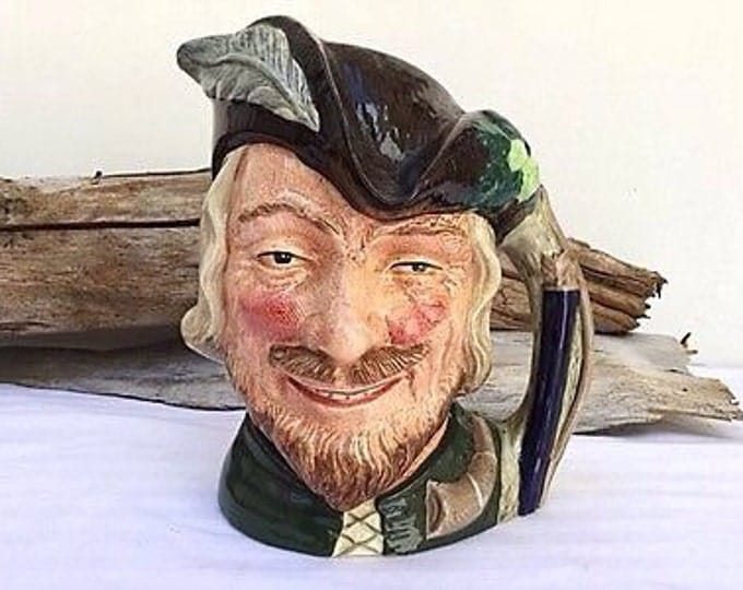 Large Toby Mug Royal Doulton Stein Robin Hood 1950s mugs.Forest.Cabin decor.Pub