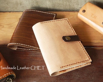 Leather Passport cover/ Passport holder by saddle leather Free initial stamping