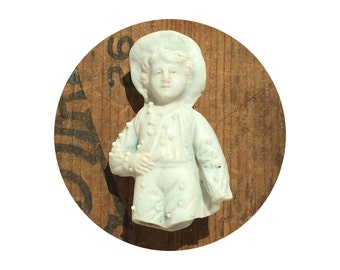 1 Damaged, Antique German Bisque doll fragment, Doll Parts, found object supply from Elizabeth Rosen