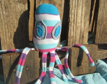 Handmade Stuffed Sock Animal Octopus Child Safe Toy