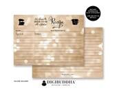 RECIPE CARDS BRIDAL Shower Recipe Cards Printed Matching Bridal Shower Recipe Cards Blank Wedding Shower Recipe Cards Set Printed - Mila