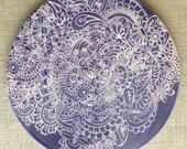 Handmade ceramic trivet/hot plate