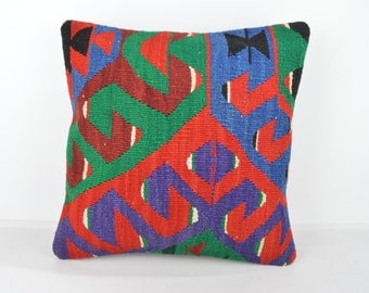 Wool Pillow, Kilim Pillow, KP1110,  Decorative Pillows, Designer Pillows,  Bohemian Decor, Bohemian Pillow, Accent Pillows, Throw Pillows