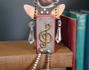 Assemblage Found Objects Art Doll