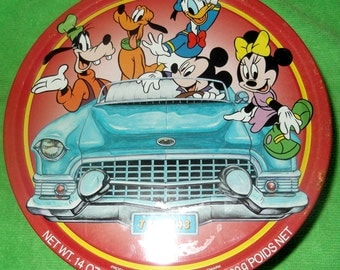Vintage Collectible Cookie Tin Walt Disney Cookie Tin Product Of Denmark