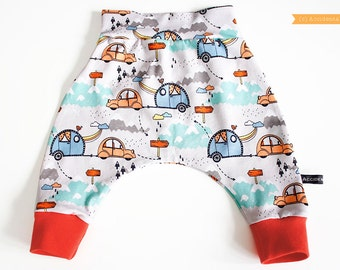 Baby harem trousers | ORGANIC pants | toddler and baby clothes |  newborn, 0-3, 3-6m, 6-12m months | new baby gift