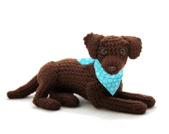Chocolate Labrador Doll