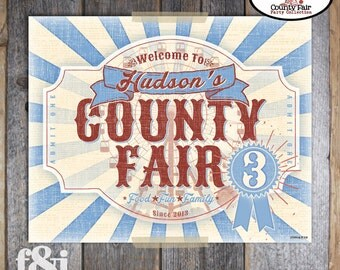 County Fair Welcome Sign | Country Fair Welcome Sign | County Fair Sign | Carnival Welcome Sign | County Fair Birthday Party | Printable