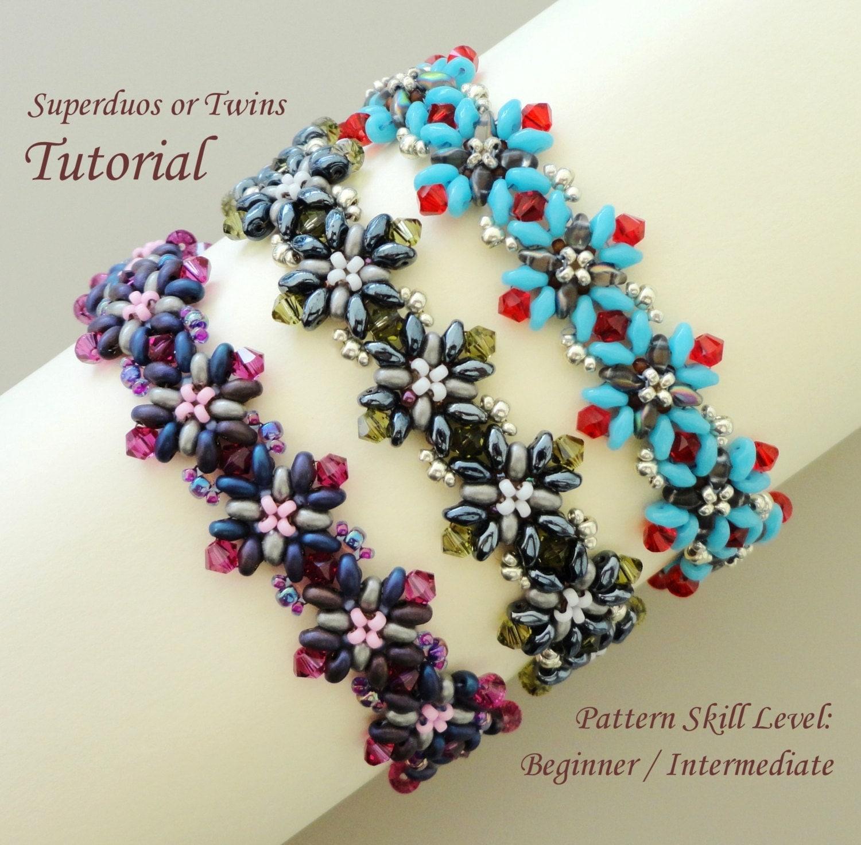 Capri Twin Superduo Seed Bead Bracelet Beading Tutorial