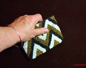 SALE 15% OFF - Ladies Evening Bag, Native American Print, Hand Clutch bag, Beaded coin purse.....