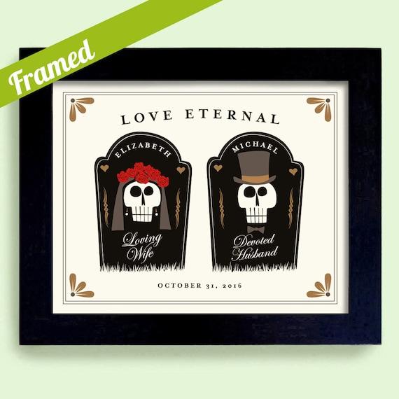 Halloween Wedding Gift Ideas: Halloween Theme Wedding Gift For Couple Graveyard Tombstone