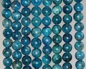 8-9MM Connoisseur Green Blue Apatite Gemstone Grade A Round 8-9MM Loose Beads 7.5 inch Half Strand (90183038-117)