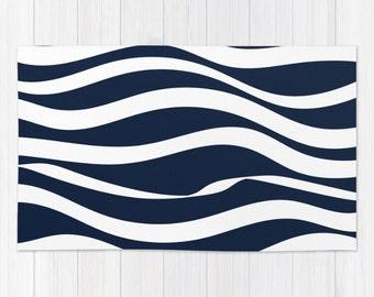 Nautical Bath Rug Etsy