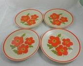 Vintage Lenox Temper-Ware 'Fire Flower' Salad Plates - 4TTL