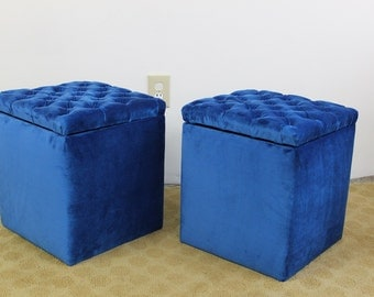 Mid Century Modern storage stools, boxes, footstools, trunks