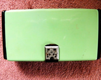 French Compact, Dance Purse, Art Deco